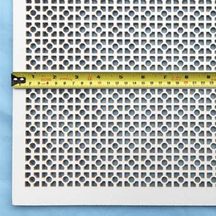Arizona white faced perforated MDF screening panel
